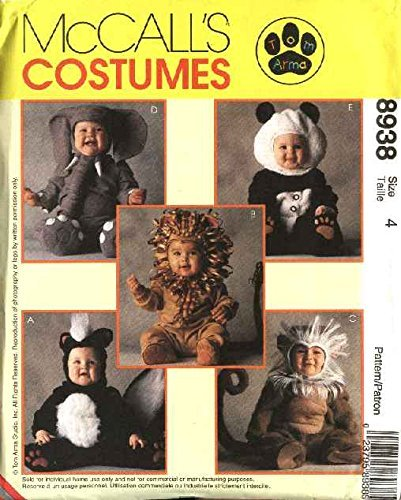MCCALLS PATTERN 8938 TODDLERS COSTUMES SIZE 4 -