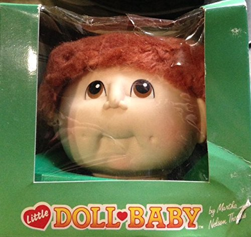 Little Doll Baby Short Hair Strawberry Red Doll Head