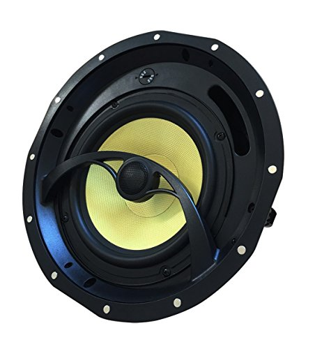 YK82C Silver Ticket Products In-Ceiling Speaker with Magnetic Grill and Pivoting Tweeter (8 Inch in-ceiling) by Silver Ticket Products