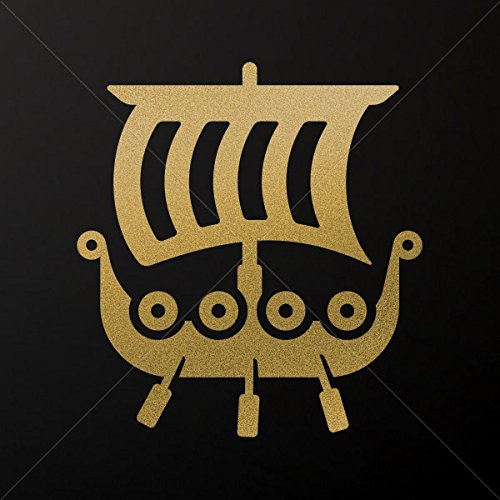 Decals Decal Ancient Greek Ship Triiris Tablet Laptop Weathe Gold-Matte (4 X 3.68 Inches) from Ancient Various sizes