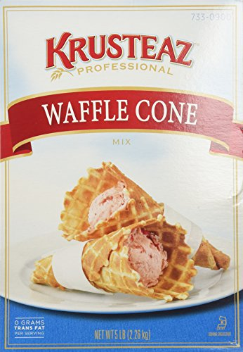 Two Cones - Krusteaz WAFFLE CONE Mix 5lb (2 Bags) Restaurant Quality