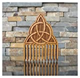 Celtic Trinity Knot Wood Beard Comb