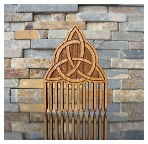 Celtic Trinity Knot Wood Beard Comb by L.I.M. Lazer