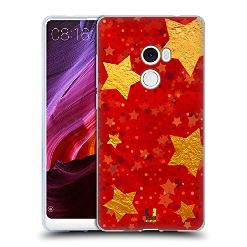 Head Case Designs Gold Starlights Soft Gel Case for Xiaomi Mi Mix (Starlight Mix)