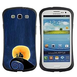 "Hypernova Slim Fit Dual Barniz Protector Caso Case Funda Para SAMSUNG Galaxy S3 III / i9300 / i747 [Surf Surf Wave Luna Blue Night""]"