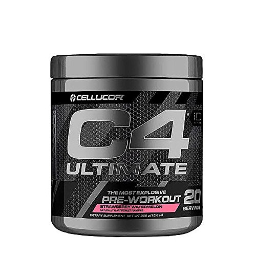 Cellucor C4 Ultimate Pre Workout Powder with Beta Alanine, Creatine Nitrate, Nitric Oxide, Citrulline Malate, and Energy Drink Mix, Strawberry Watermelon, 20 Servings