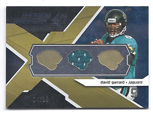 DAVID GARRARD 2008 SPX Winning Materials #WMDG Team Logo Parallel GAME-USED JERSEY CARD #14 of only 25 Made! Jacksonville Jaguars Football