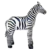 Jet Creations Inflatable Zebra Great For Safari Baby Showers & Zoo Themed Children'S Parties Photo Prop Stuffed Animal 56' AN-ZEB5