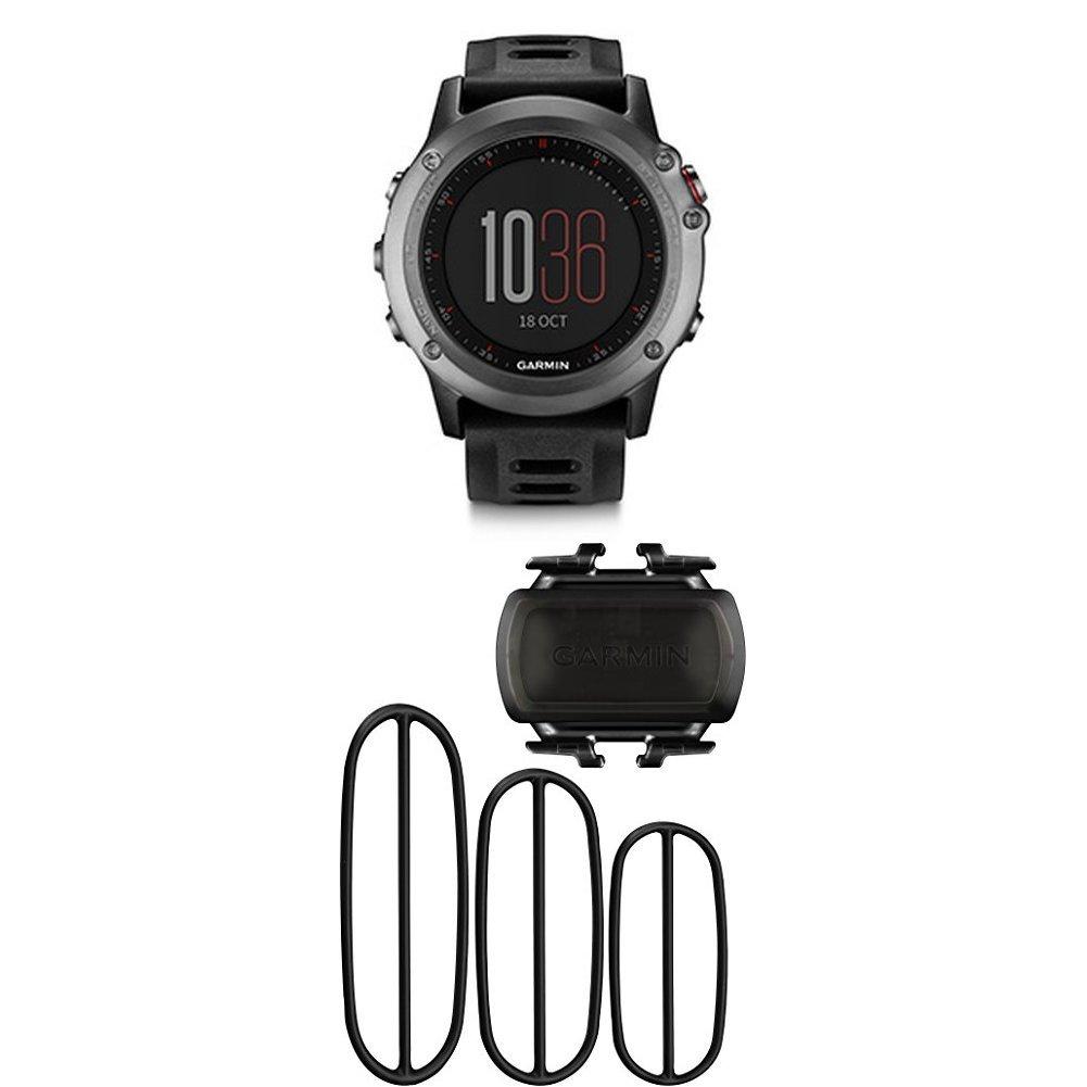 Garmin fenix 3 GPS Watch, Gray and Bike Cadence Sensor