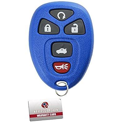 KeylessOption Keyless Entry Remote Start Control Car Key Fob Replacement for 22733524-Blue: Automotive