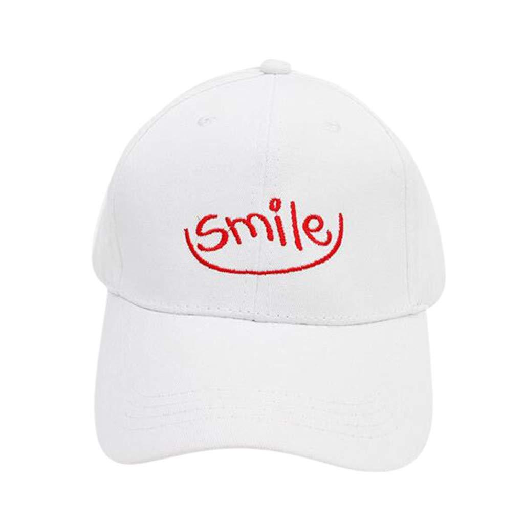 Hanomes Smile Printed Baseball Cap - Classic Plain Hat, Sports Casual Trucker Hats Cap for Mens Women Sun hat