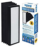 VEVA Premium HEPA Replacement Filter Including 4 Activated Carbon Pre Filters Compatible with Air Purifier AC4300/AC4800/AC4900/AC4825 and FLT4825 Filter B
