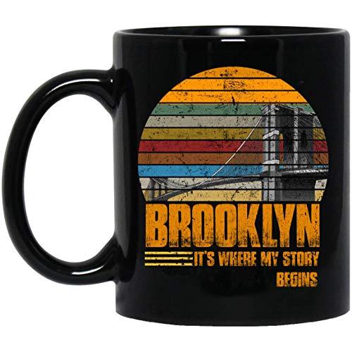 Brooklyn It's where my story begins Vintage flag Mug 11oz
