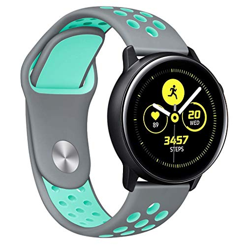 Choosebuy for Samsung Galaxy Watch Active Small Silicone Replacement Band Wrist Strap (Blue) from Choosebuy