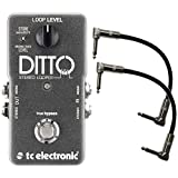 TC Electronic STEREO Ditto Looper Pedal w/ 2 Patch Cables