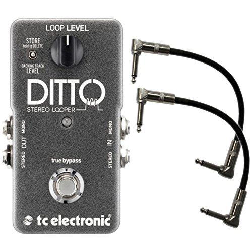 tc-electronic-stereo-ditto-looper-pedal-w-2-patch-cables