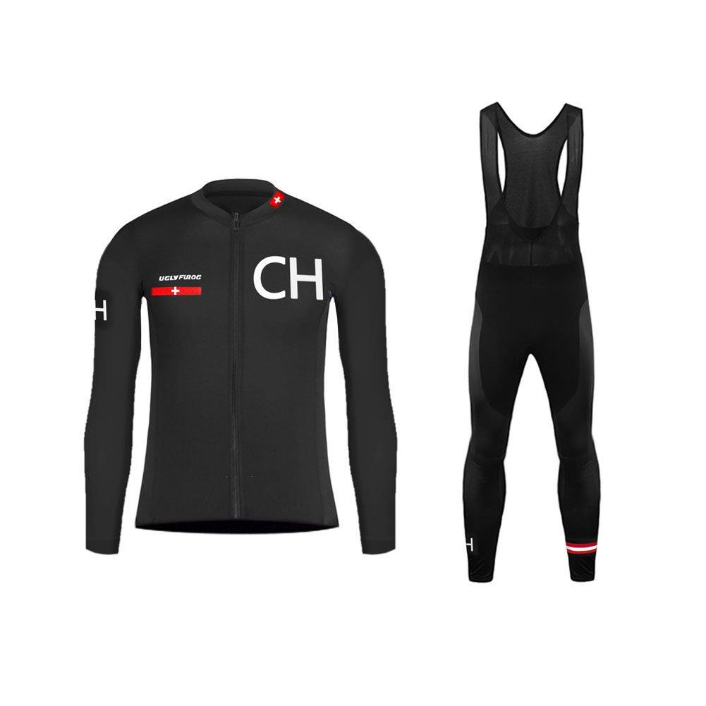 Uglyfrog Sportern 2015新しいファッションアウトドアスポーツ春長袖サイクリングジャージーTriathlon clothing B074DV62LQ Large|カラー33 カラー33 Large