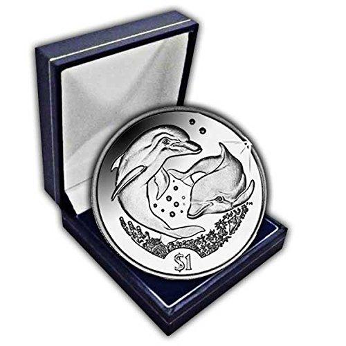 Îles vierges britanniques 2006Dauphin UNC. Cuni pièce de monnaie dans une boîte