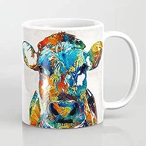 كوب مج شاي قهوة نيسكافيه بورسلان مطبوع ديجيتال حجم 325مل من جوليا فاشون  كود12