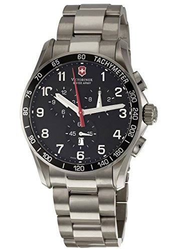 Victorinox Swiss Army Men's 'Chrono Classic' Quartz Titanium Sport Watch, Color:Silver-Toned (Model: 241261)