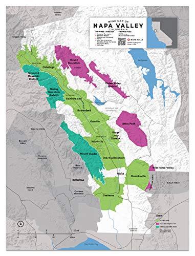 Wine Folly USA: Napa Valley, California Wine Map Poster Print, 12