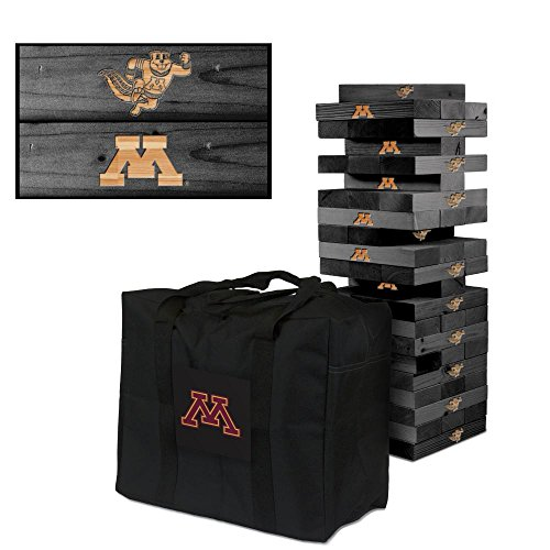 NCAA Minnesota Golden Gophers 850312Minnesota Golden Gophers Onyx Stained Giant Wooden Tumble Tower Game, Multicolor, One Size by Victory Tailgate