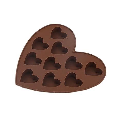 CTGVH moldes para hacer dulces de chocolate, moldes de silicona para tartas de chocolate con