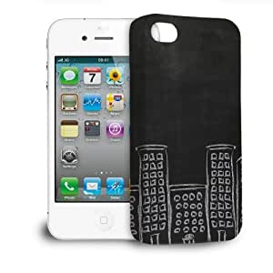 Phone Case For Apple iPhone 4/4S - Chalk City Hard Wrap-Around