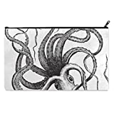 Octopus Black And White School Pencil Case pencil Bag Zipper Clutch Organizer Purse Bag /Cosmetic Organizer Bag /Toiletry Bag/(Twin sides) 9.0''(L) x 5.5''(W)