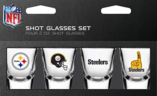 Steelers Shot Glasses - Pittsburgh Steelers Shot Glass 2oz 4 Pack
