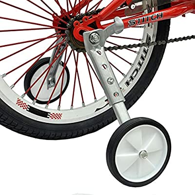 Little World Bicycle Training Wheels, Variable Speed Bike Training Wheels Bicycle Stabilizers Mounted Kit for Kids Variable Bike of 18 20 22 Inch, 1 Pair : Sports & Outdoors
