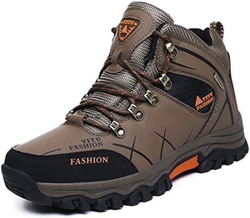 防水ハイキングシューズメンズトレーナーアンチアウトドアトレッキング登山動作させるための軽量のシューズスニーカースリップ (Color : Khaki, Size : 10.0UK)