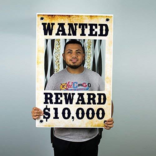 Wanted Dead or Alive $10,000 Reward Selfie Frame Poster
