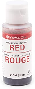 LorAnn Red Liquid Food Color, 1 ounce squeeze bottle