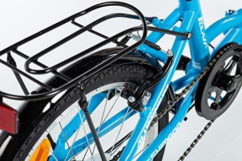 Moma Bikes First Class 2 AZ Bicicleta Plegable Urbana, 6V. Sillin ...