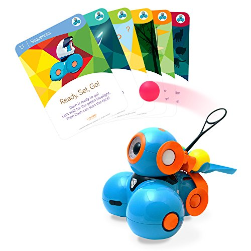 Exclusive Robot (Wonder Workshop – Dash Robot Coding for Kids 6+ – Dash Challenge Cards & Catapult Launcher – (Amazon Exclusive))