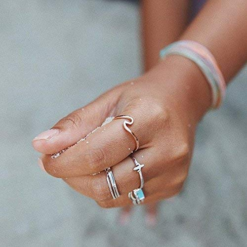 Pura Vida Rose Gold Coated Wave Ring - Gold Plated .925 Sterling Silver - Size 5 by Pura Vida (Image #3)