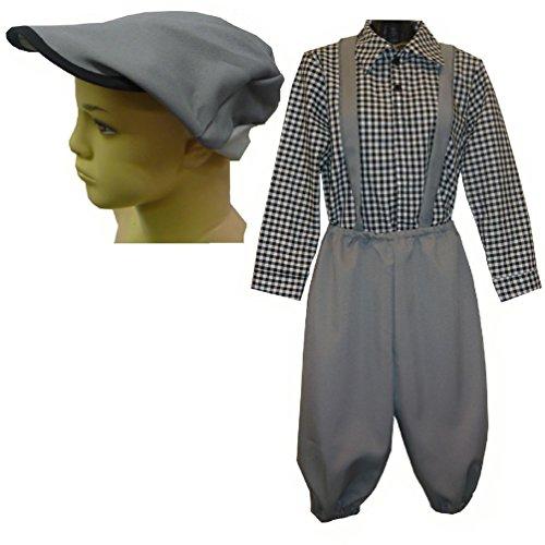 Child Newsboy Victorian 3 Piece Costume Newsies Boys Victorian Costume