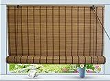 Bamboo Roll Up Window Blind Sun Shade W30' x H72'