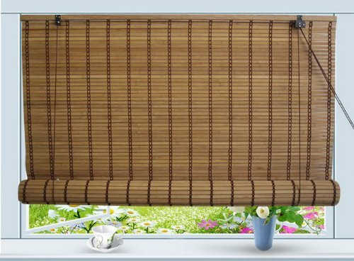 72 Matchstick Shade Bamboo - Bamboo Roll Up Window Blind Sun Shade W30