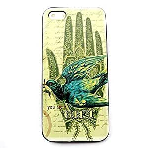 TOPQQ Swallow Pattern Hard Case for iPhone 4/4S