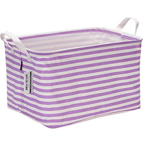 purple canvas basket - 1