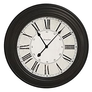 24 Large Decorative Wall Clock 32213vbk Home