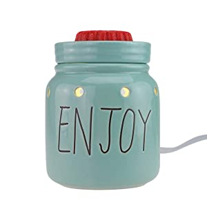 StarMoon Electric 2-in-1 Candle Warmer for Wax Melt, Home Fragrance Diffuser, Fragrance Air Fresheners, Home Décor, No Flame, Removable Dish, with One More Bulb (Mason Jar)