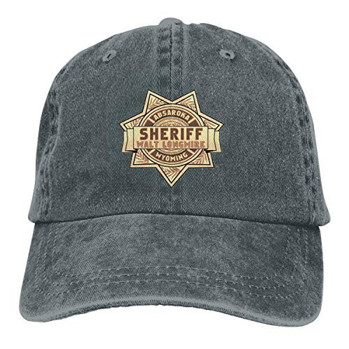 YBHAT Longmire for Sheriff Mens & Womens Pigment Dyed Hat Adjustable Deep Heather