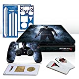 Controller Gear Uncharted 4 A Thief's End - PS4 Slim Horizontal Console & Controller Skin Pack - PlayStation 4