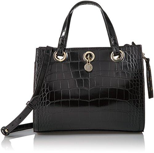 A|X Armani Exchange Croc Small Shopper, black, One - Armani Bag Black Exchange