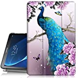 Samsung Galaxy Tab A 10.1 Case,PIXIU Lightweight Smart Folio Protective Case with Auto Sleep/Wake Feature for Samsung Galaxy Tablet SM-T580/SM-T585 T587 (NO S Pen Version) Unique Floral Deisign