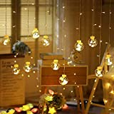 CITRA Indoor Outdoor String Lights Window Curtain Lights with 8 Flashing Modes Christmas Wedding Party Home Garden Shop Decoration Backdrop (8.2 Feet, Wish Ball-Warm White)