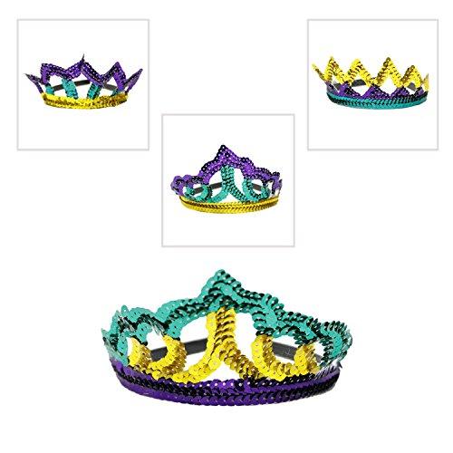 - Fun Express Sequin Mardi Gras Headband